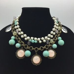 3-Strand Chunky Statement Necklace JJ121